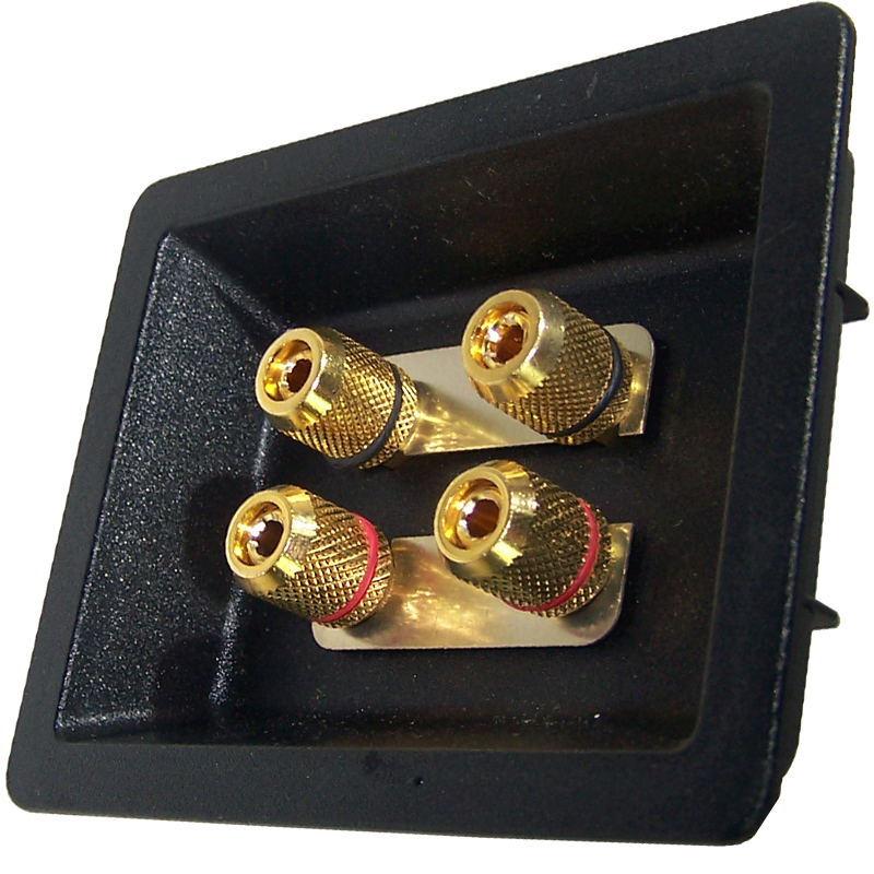 Speaker Cup Gold Plated Bi Wire Terminals Hifi Collective