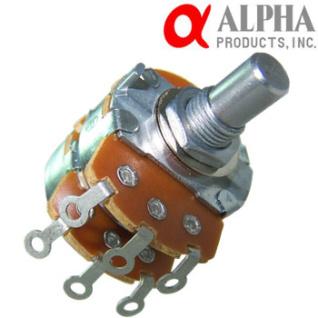 Alpha 24mm Solid Shaft Stereo Potentiometers