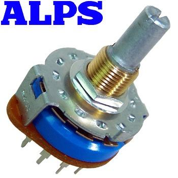 ALPS 2 pole 6 way, shorting selector switch, SRRM262400
