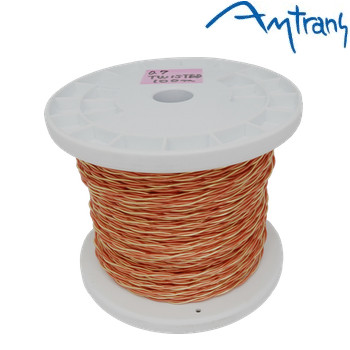 Amtrans OFC gold plated twisted pair, 0.7mm dia, with sleeving