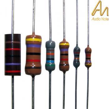 Close up of Audio Note Tantalum Resistors