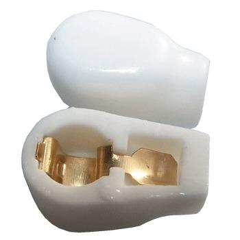 6mm Ceramic, gold plated Anode Cap