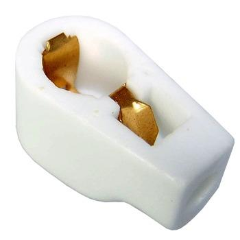 8mm Ceramic, gold plated Anode Cap