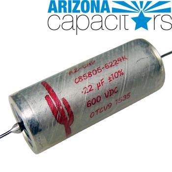 Arizona Capacitors Red Cactus - Paper/Oil/Aluminum Foil Capacitor, C85805