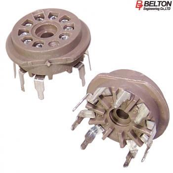 Close-up view of VT9-PT: Belton B9A PCB mount valve base