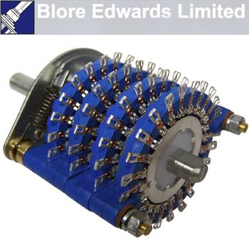 Blore Edwards 4 pole 23 way attenuator switch, OPZ-51261-4