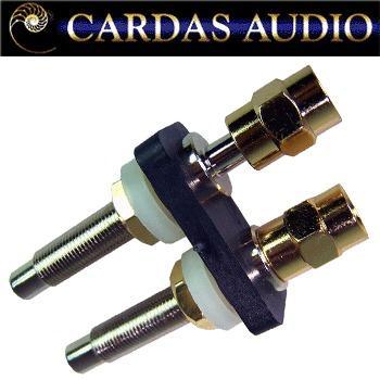 Cardas ACBP-L large Rhodium / silver plate binding posts