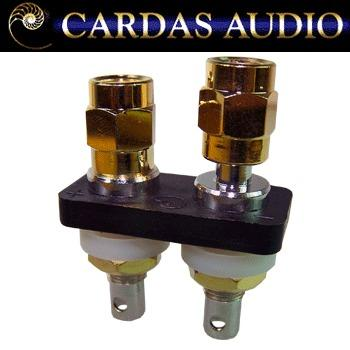 Cardas ACBP-S short Rhodium / silver plate binding posts