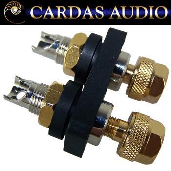 Cardas CCGR-FS short Rhodium / silver plate binding posts