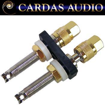 Cardas CCGR-L long Rhodium / silver plate binding posts