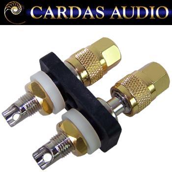 Cardas CCGR-S short Rhodium / silver plate binding posts