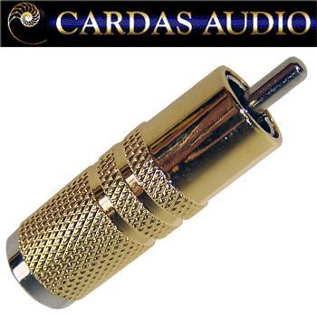 Cardas GRMO RCA plug, rhodium over silver plate