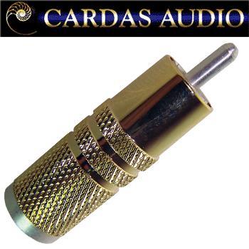 Cardas GSMO RCA plug, silver plated