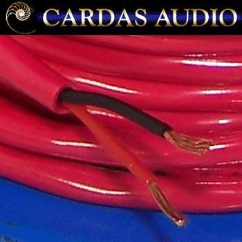 Closeup view of Cardas 2 x 20 AWG (0.81mm diameter) copper multistrand