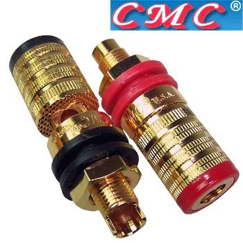BINDING POST CMC 858L-S Silver Plated Speaker Terminal Banana Plug Socket AUDIO