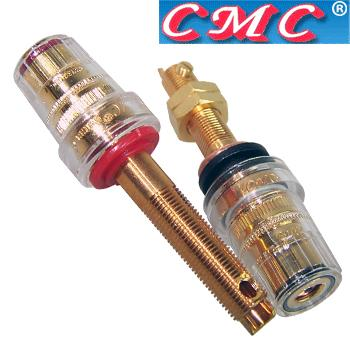 CMC-858-L-CUR-G gold plated, long speaker terminals