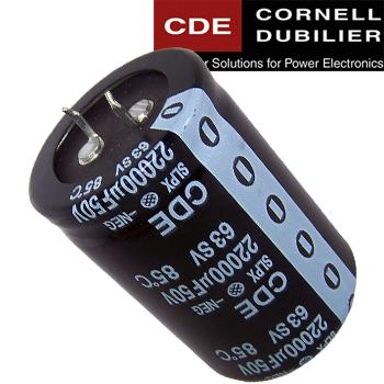 Cornell Dubilier SLPX Electrolytic Capacitors