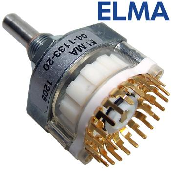 Elma 1 pole 24 way switch, 04-1133-20 PCB