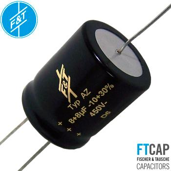 F&T Electrolytic Dual Section Type AZ Capacitors