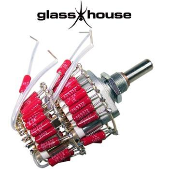 Glasshouse Stepped Attenuator, 0.5W PRP metal film resistor, Shunt version