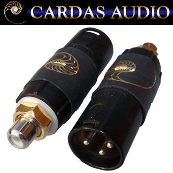 Cardas male XLR to RCA adapter, RCAF/XLRM | Hifi Collective on