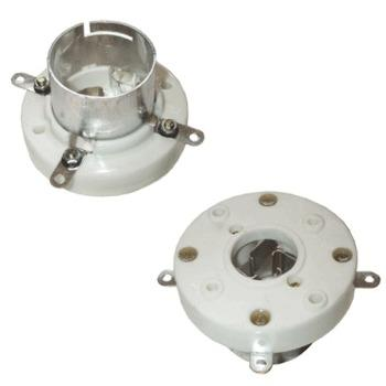 211/845 shielded, nickel plated contacts, chassis mount base