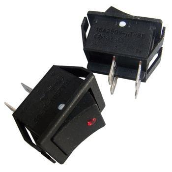 Mains on-off rocker switch DPST Neon indicator