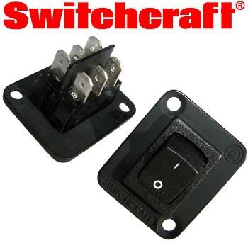 Switchcraft Mains DPDT Rocker Switch to fit XLR hole
