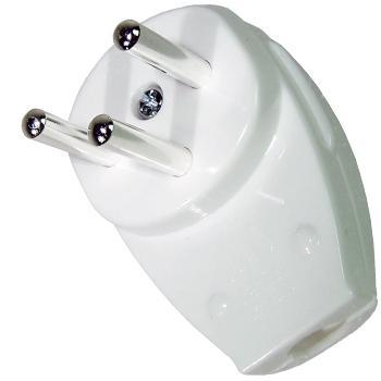 Israeli mains plug silver plated
