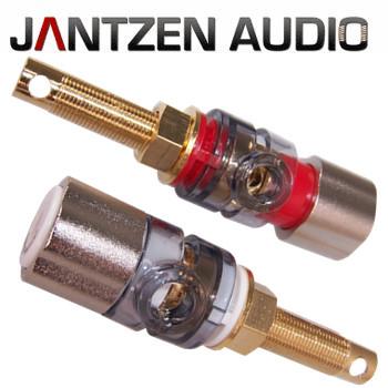 012-0209 Jantzen Binding Post M9 / 25mm, Satin nickel plated,  red / black
