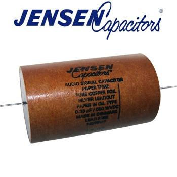 Jensen Copper Foil, Paper in Oil, in a Paper can Capacitors