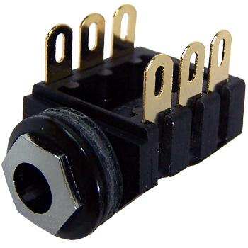 1/4 Inch Stereo Switched Jack Socket Gold Plated