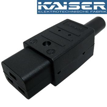 Kaiser C19 IEC plug, Silver Plated