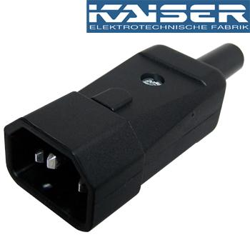 Kaiser IEC Male plug, Silver Plated