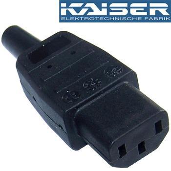 Kaiser IEC plug, Silver Plated