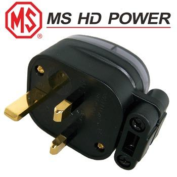MS HD Power MS328G 13A UK mains plug, Gold plated