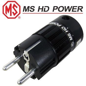 MS HD Power Schuko (EU) mains plug, Rhodium plated
