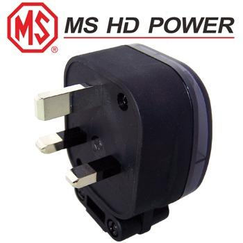 MS HD Power MS328S 13A UK plug, silver plated