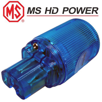 MS HD Power MS9315Rh Blue IEC Plug, Cryo`ed, Rhodium Plated