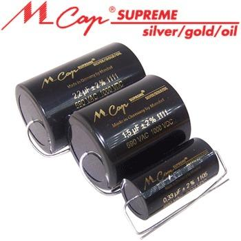 Mundorf MCap Supreme Silver Gold Oil Capacitors