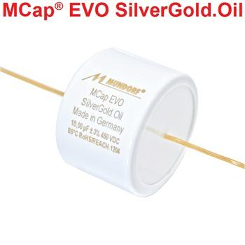 Mundorf MCap EVO Silver Gold Oil Capacitors