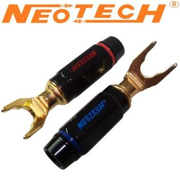 Neotech OFC Gold Plated Spade Plug SK8-Y