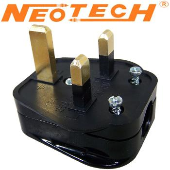 Neotech NC-411G, copper UK Mains plug, gold plated