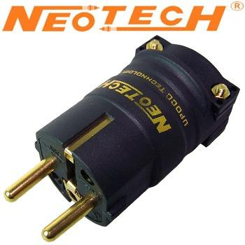 Neotech NC-P312, UP-OCC copper Schuko plug, gold plated