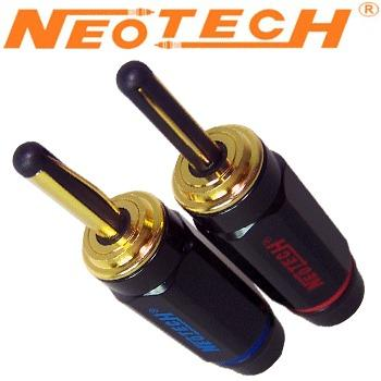 Neotech NCB-80 GD OFC Copper, Gold Plated Banana Plugs