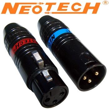 Neotech OFC NC-06612 XLR plugs, gold plated