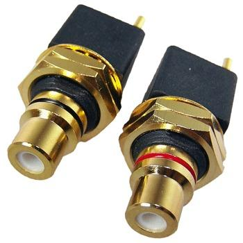 Low cost high quality straight gold plated RCA sockets