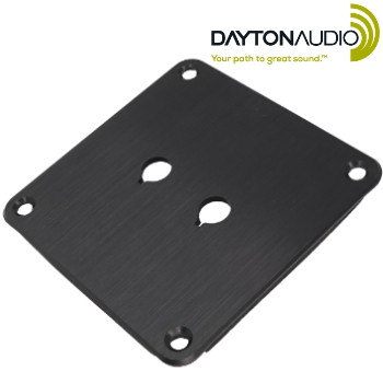 PE-091-602 Dayton Audio binding post plate, black anodised finish, 2 holes