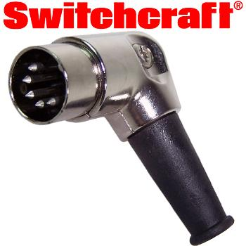 Switchcraft Shielded Right Angle 5-pin Din Plug - Naim type