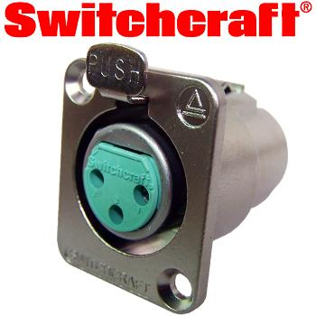 Switchcraft Silver plated female XLR socket - flush mounting